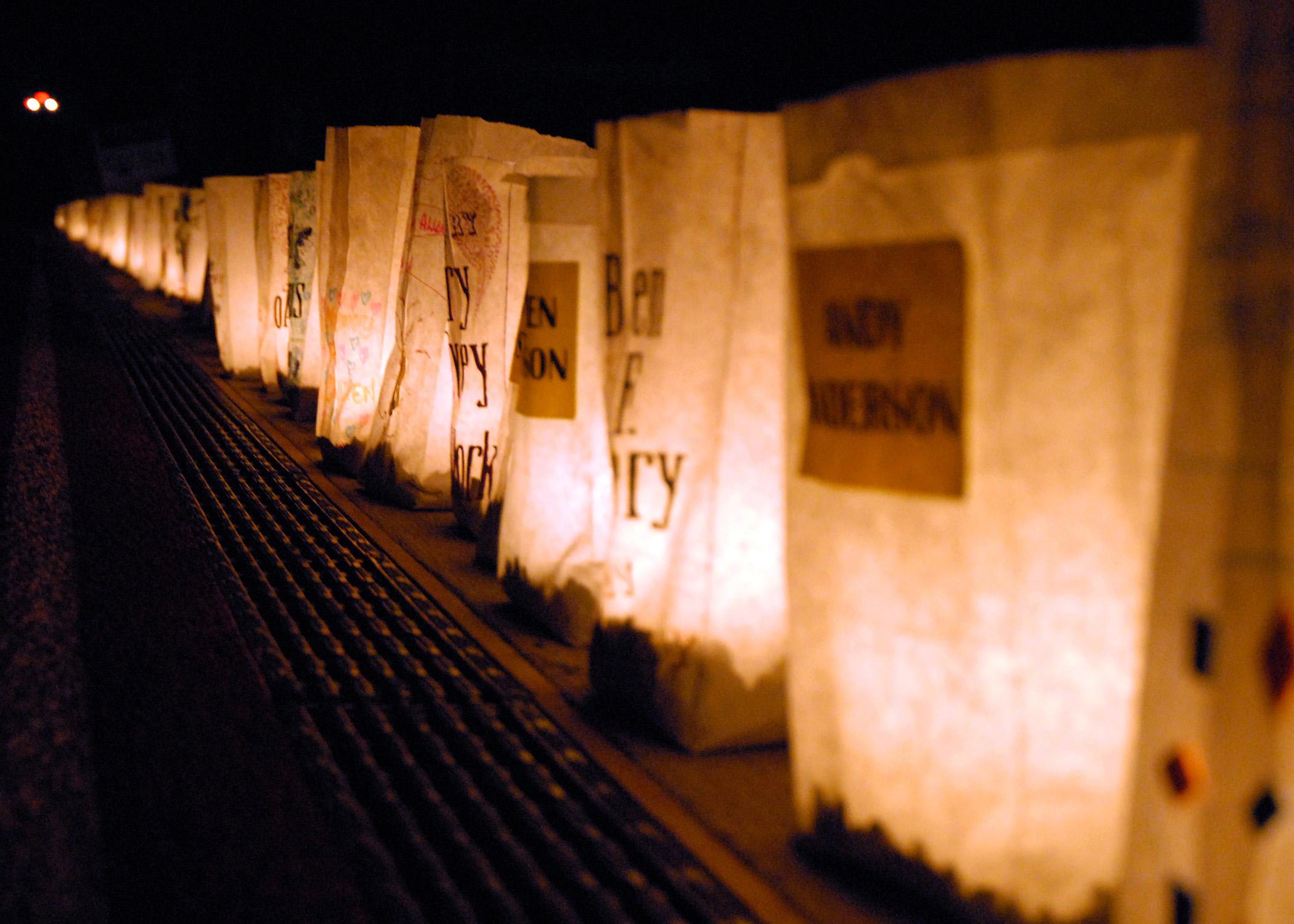 illuminated paper bags