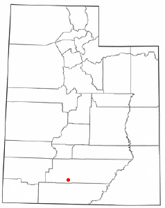 Location of Henrieville, Utah