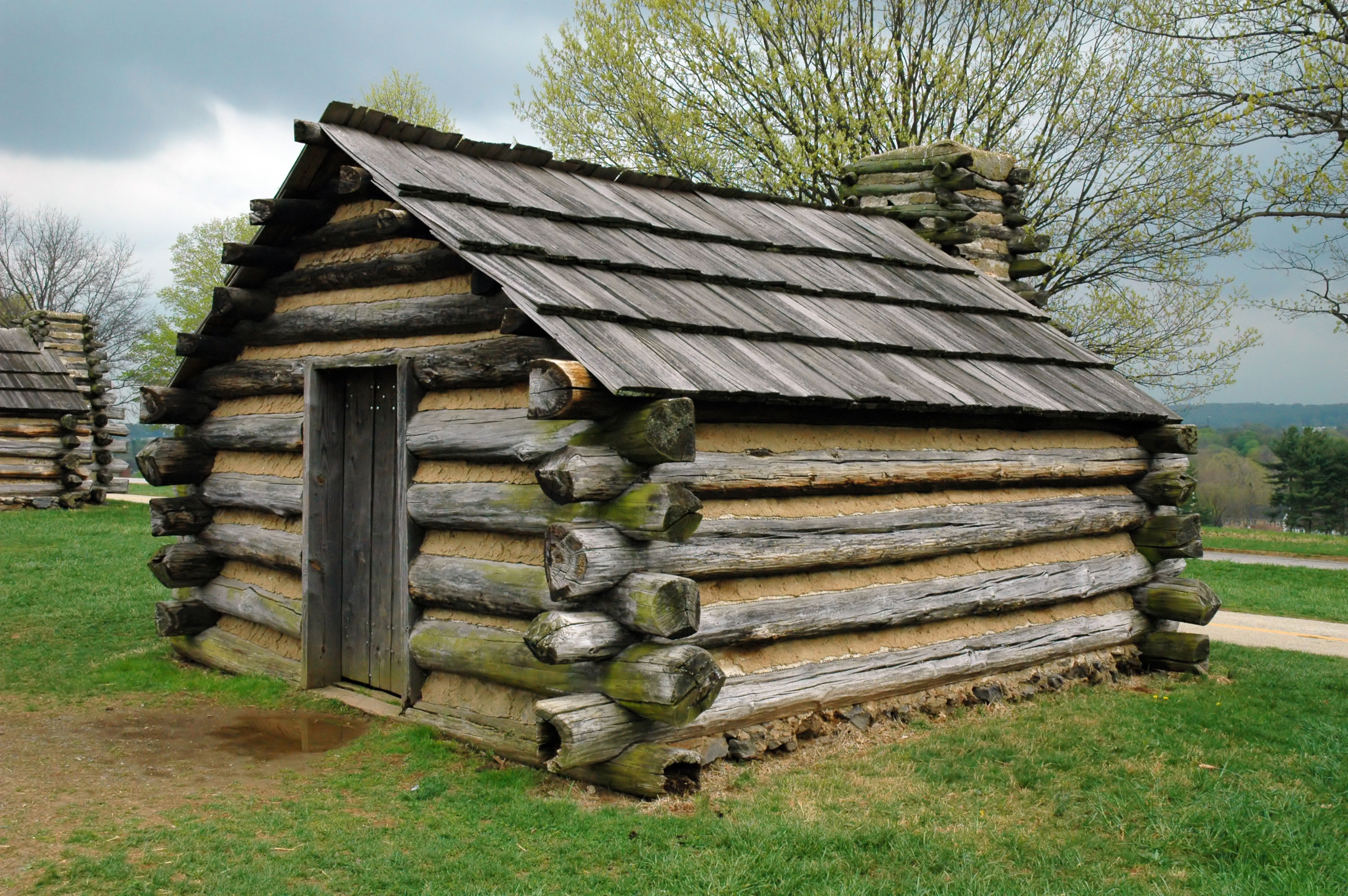 File:Valley_Forge_cabin on Simple Drawings Houses In Modern Days