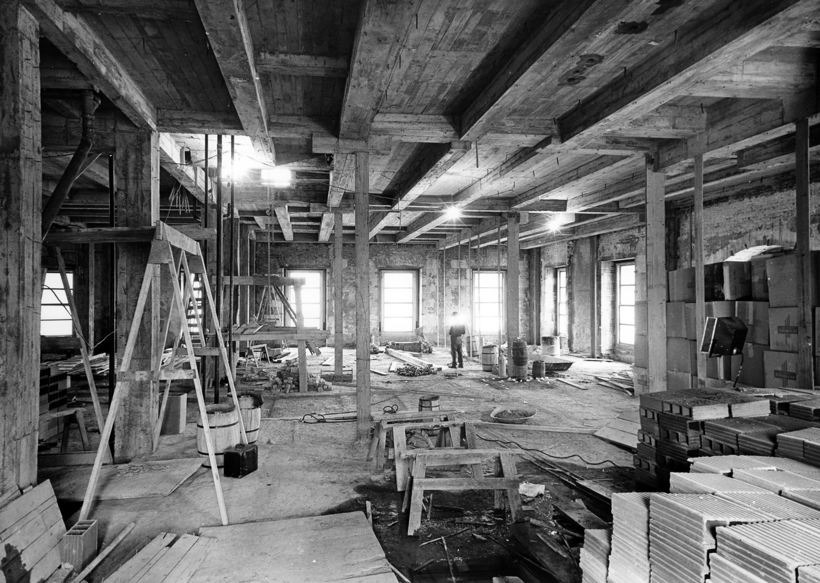 from the lincoln room during the white house renovation 01 23