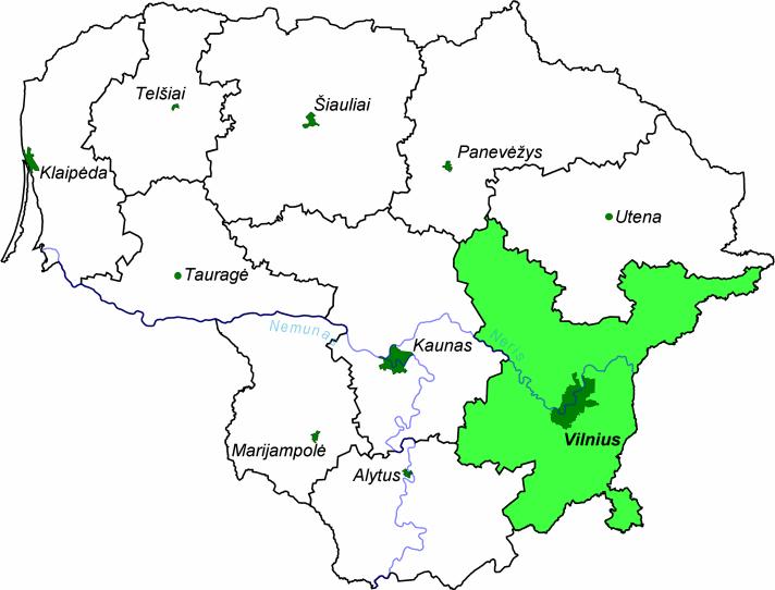 kart vilnius Vilnius fylke – Wikipedia