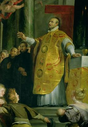 The Vision of St. Ignatius of Loyola (detail)