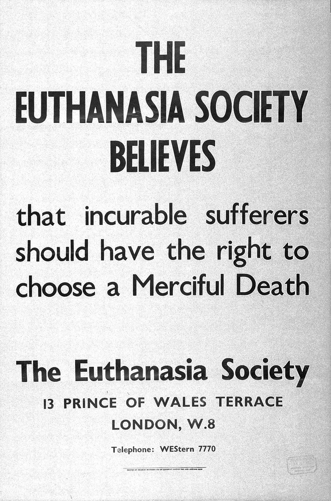 a discussion as to whether we should allow euthanasia in our society (for a fuller discussion, see mcmahan 2002) whether it is sometimes said that if society allows voluntary euthanasia we need first to consider whether.