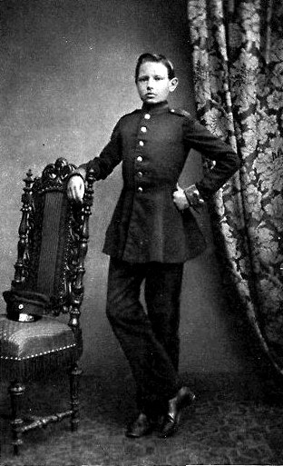 Paul von Hindenburg as a cadet in Wahlstatt (1860) Wahlstatt Damals - PvH.jpg