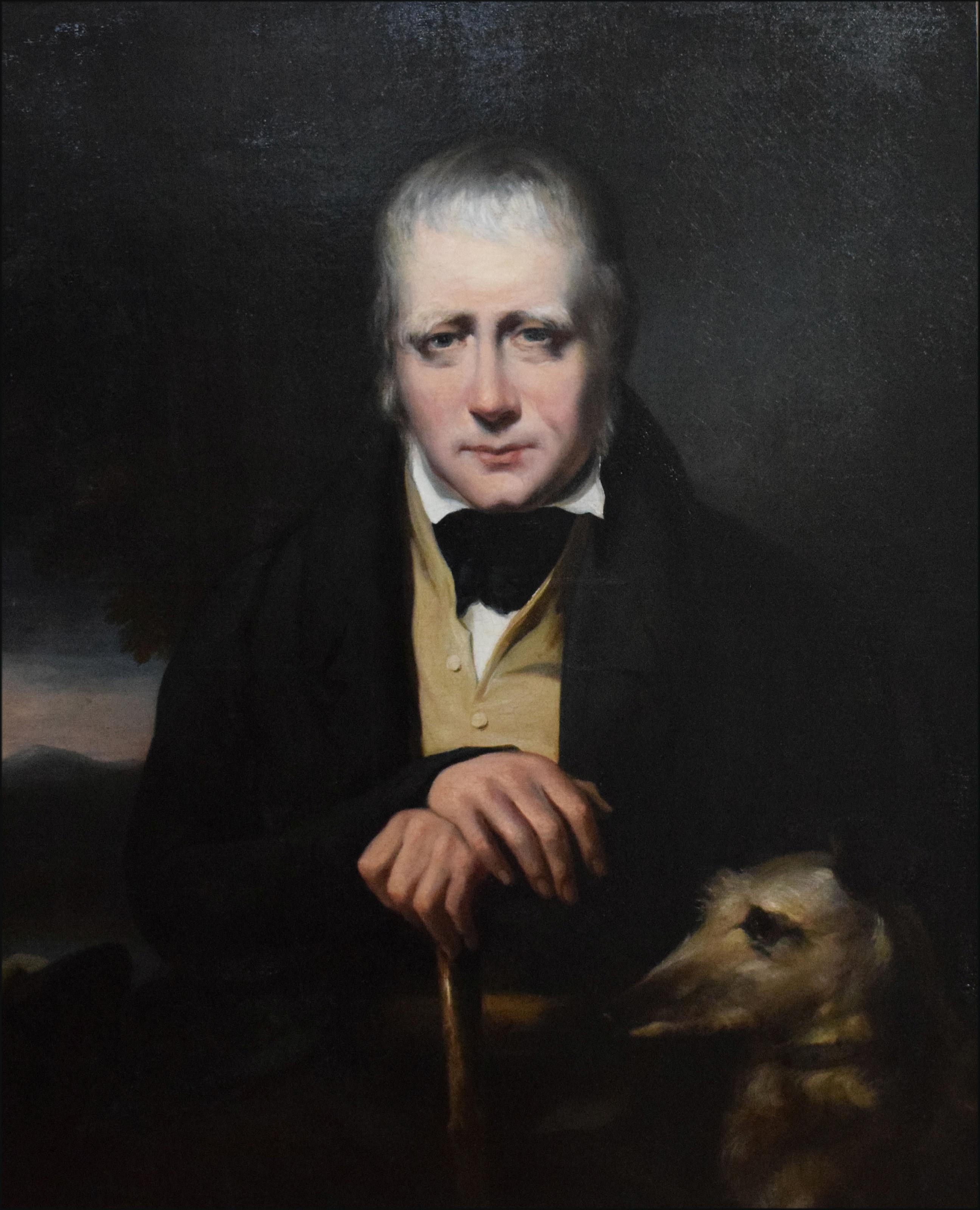 "Portrait of Sir Walter Scott and his deerhound, ""Bran"" in 1830 by [[John Watson Gordon]]"