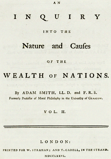 Der Wohlstand Der Nationen Wikipedia