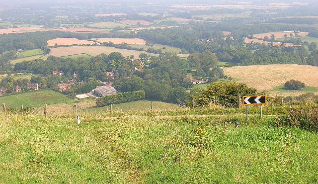 Westmeston from Ditchling Beacon - geograph.org.uk - 48432