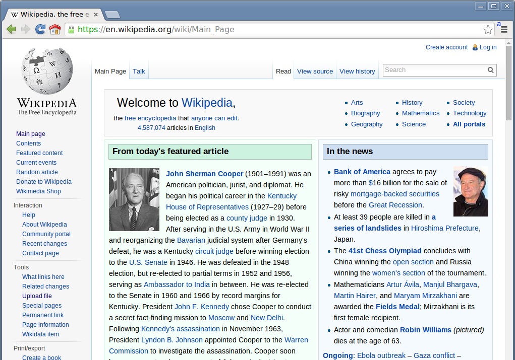 File:Wikipedia Homepage On Chromium Web Browser.png