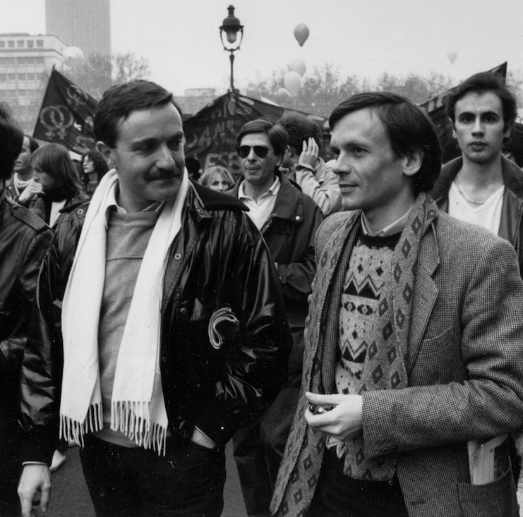 Jean Le Bitoux (right) with [[Yves Navarre]], 1981