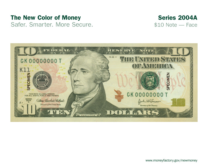 File10 Dollar Bill Of Usa New 2005 Face Jpg
