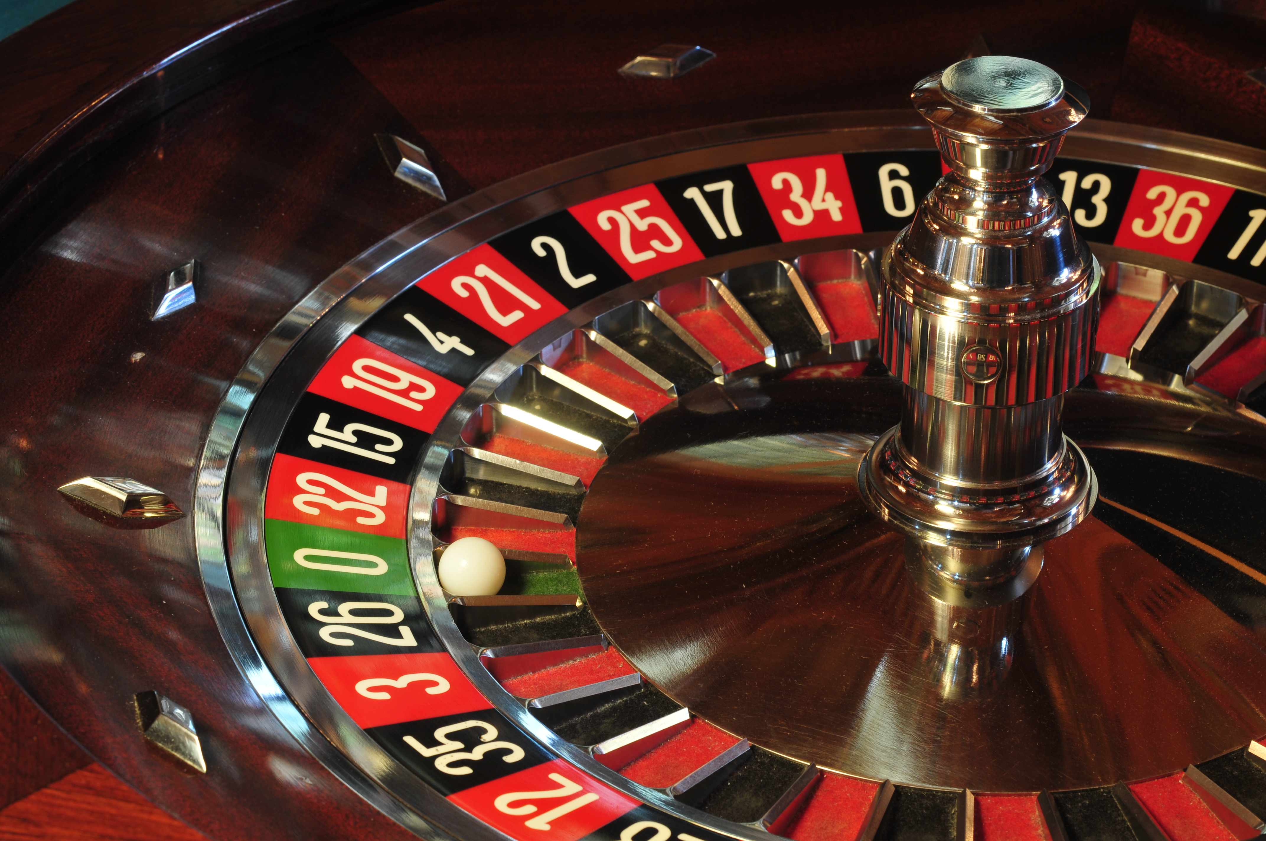 Roulette Wheel courtesy Wikpedia