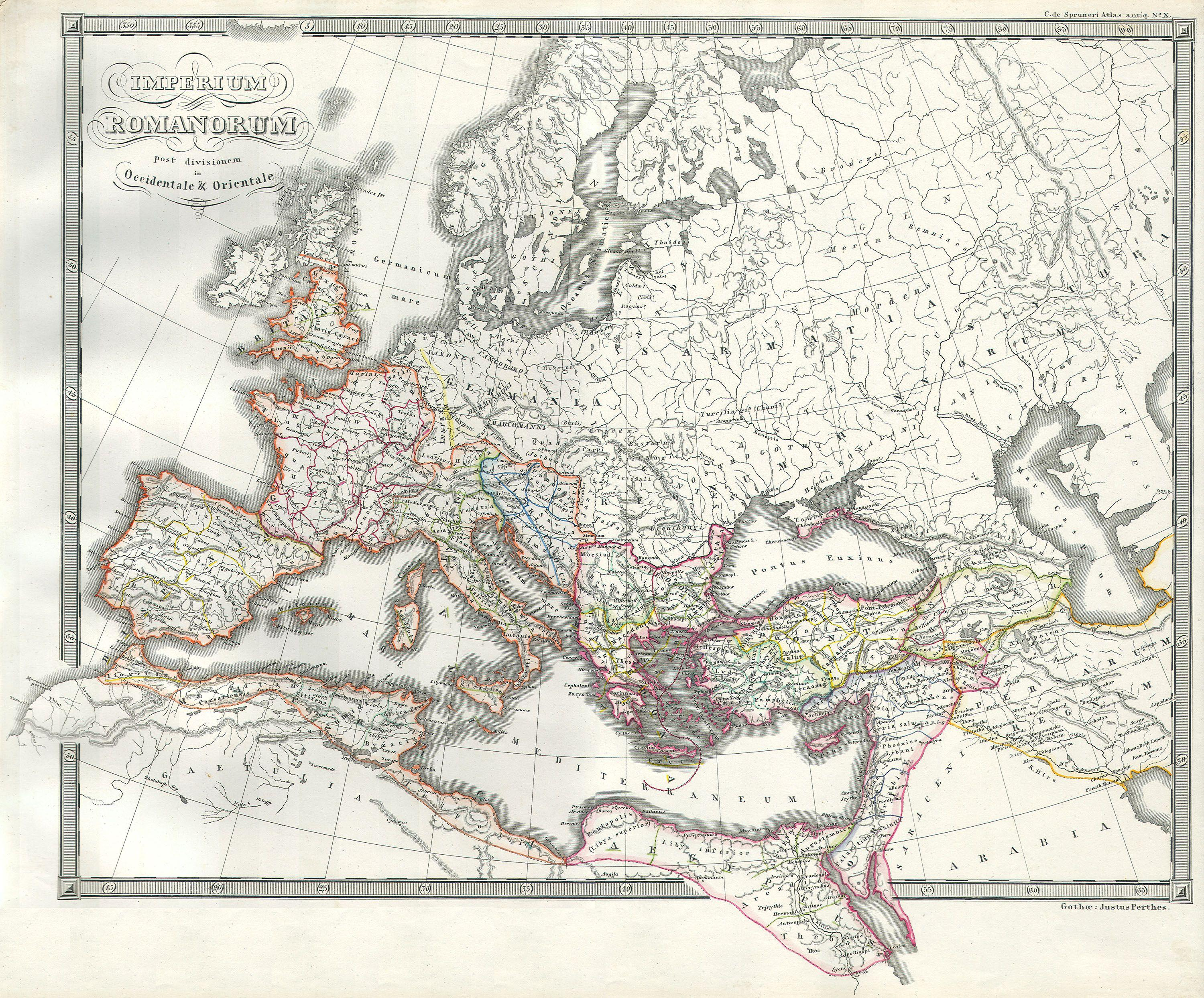 File Map Of The Roman Empire As Divided Into East And West - Maps of us and anchent rome