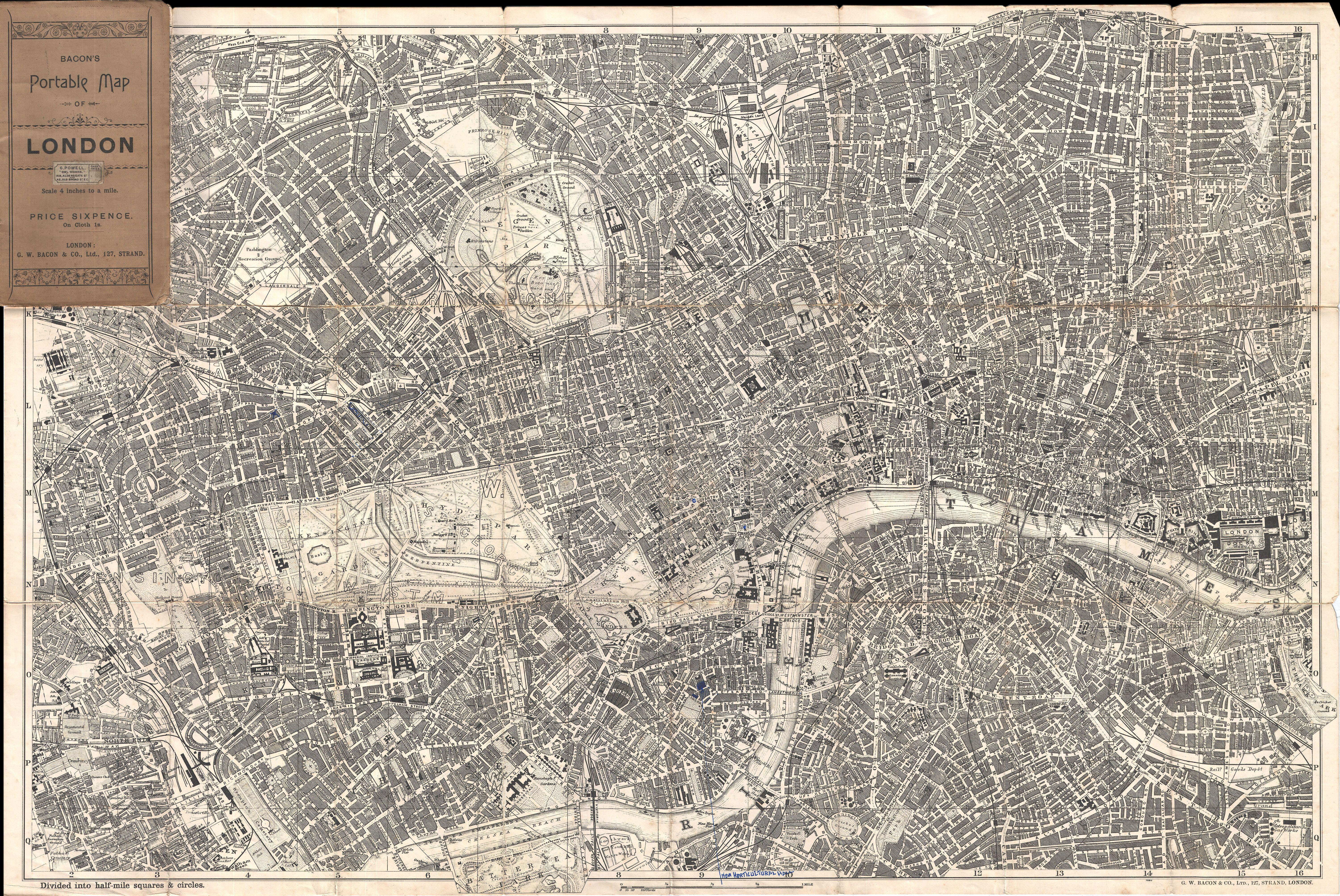 File:1899 Bacon Pocket Plan or Map of London   Geographicus