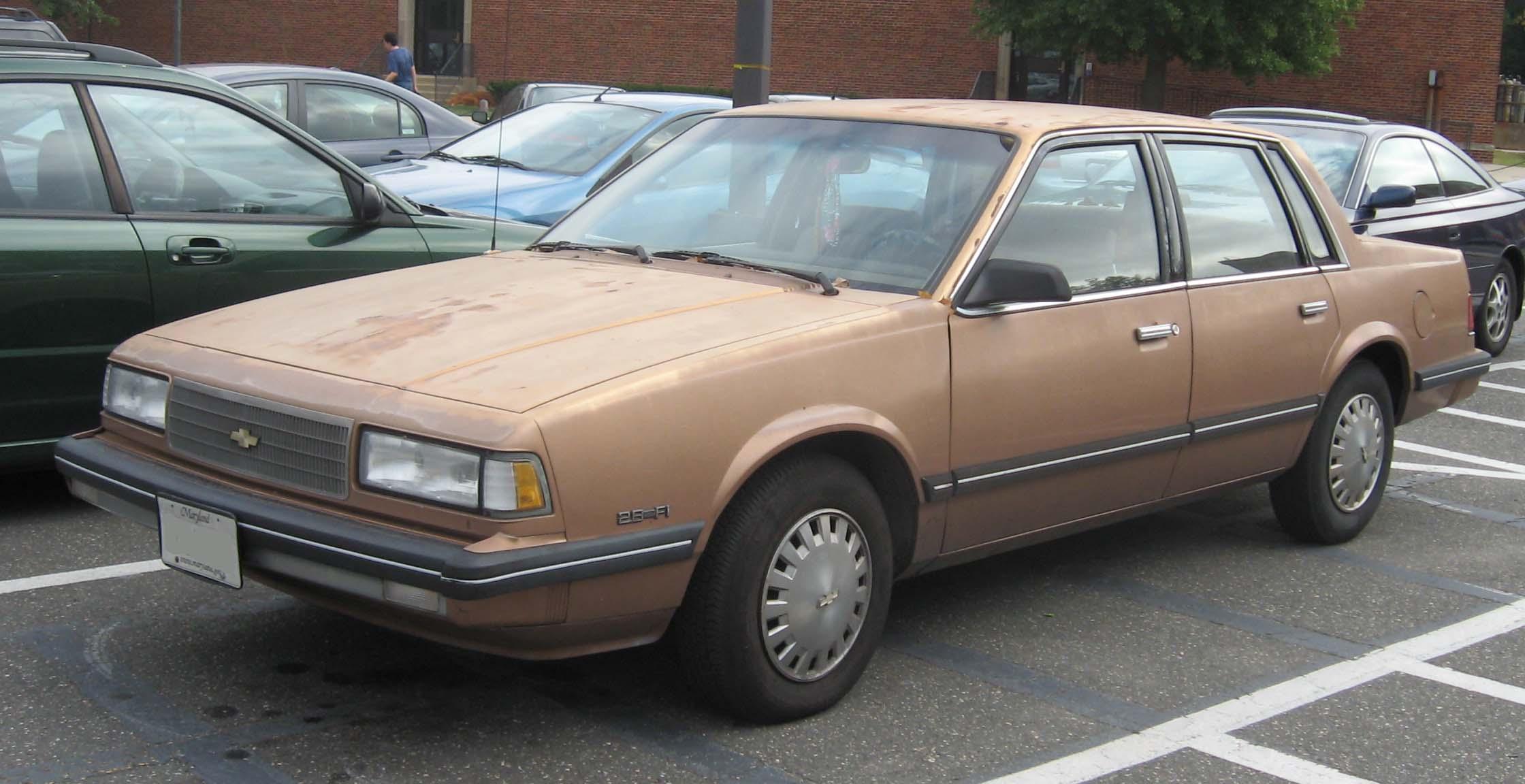 File 1987 90 Chevrolet Celebrity Sedan Jpg Wikimedia Commons