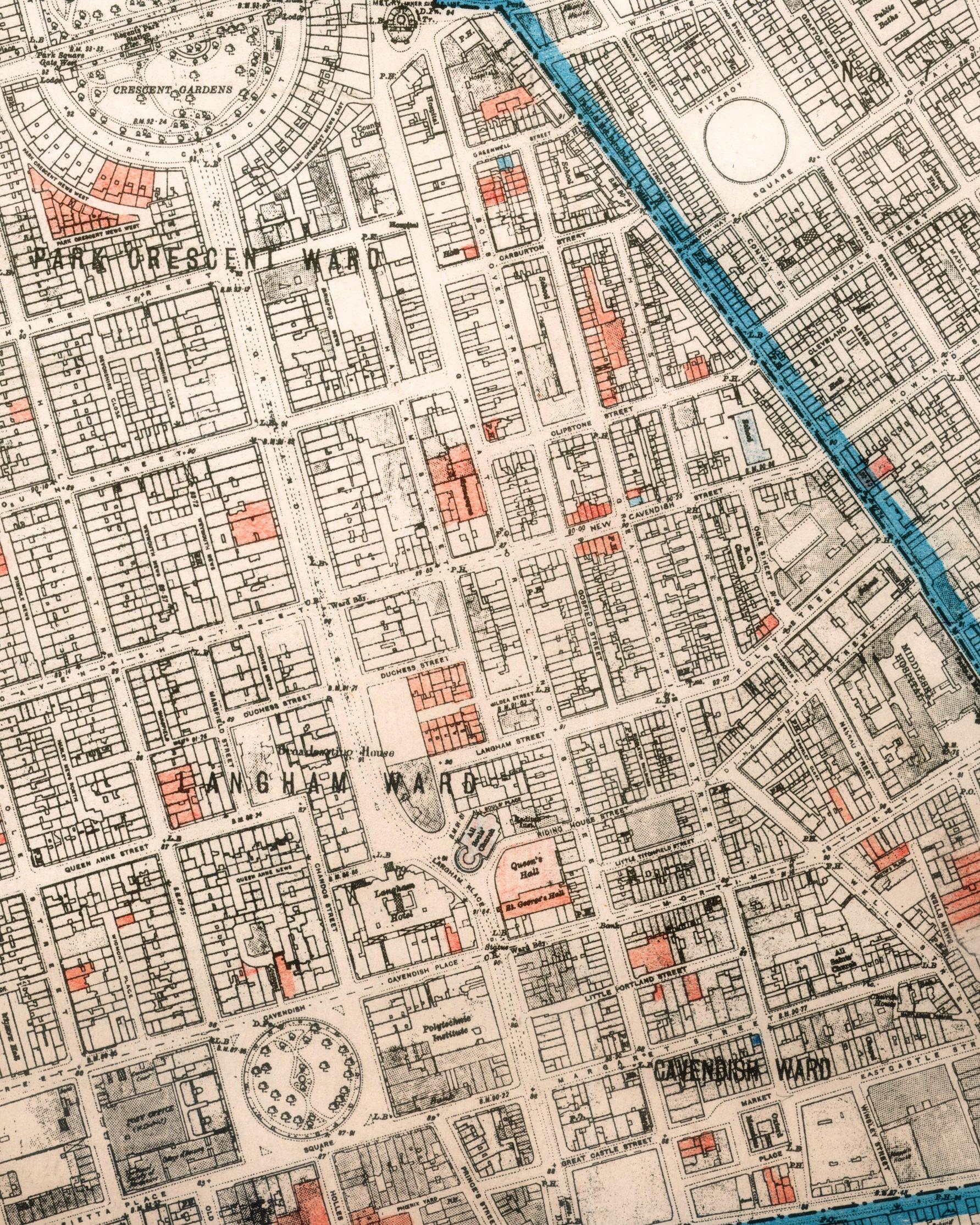 FileAir Raid Damage Map East Marylebonejpg Wikimedia Commons - London map 1945