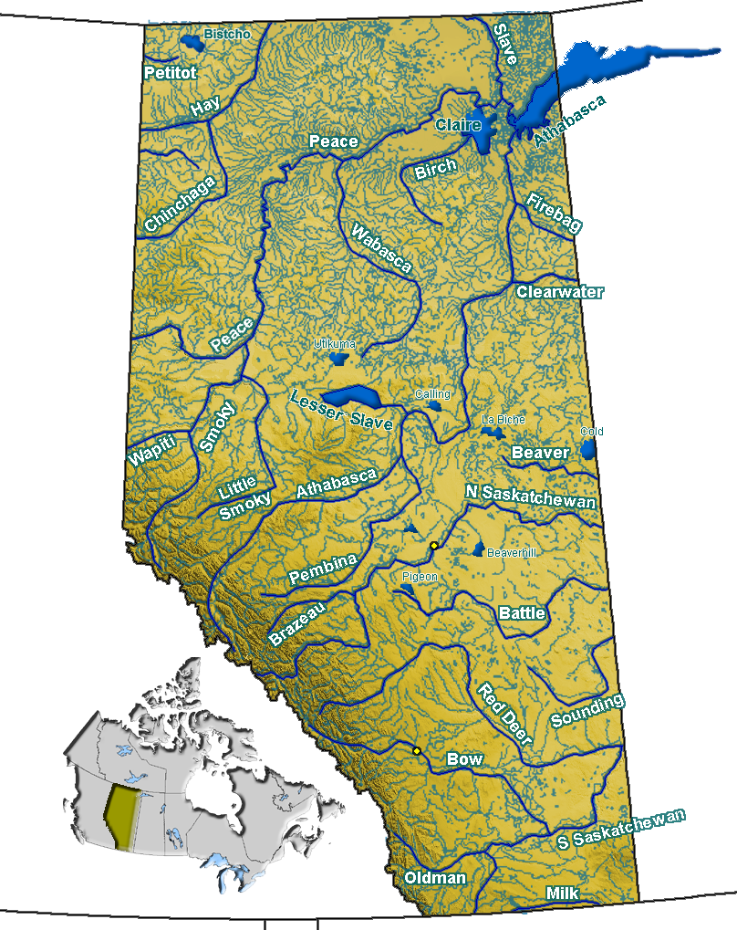 List of rivers of alberta wikipedia sciox Images