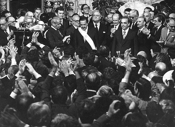 Alfonsín y Martínez el día de la asunción, 10 de diciembre de 1983