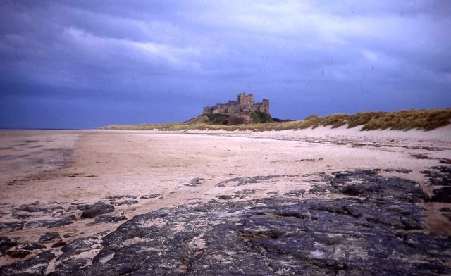 File:Bamburgh Castle from the beach at low tide - geograph.org.uk - 474750.jpg