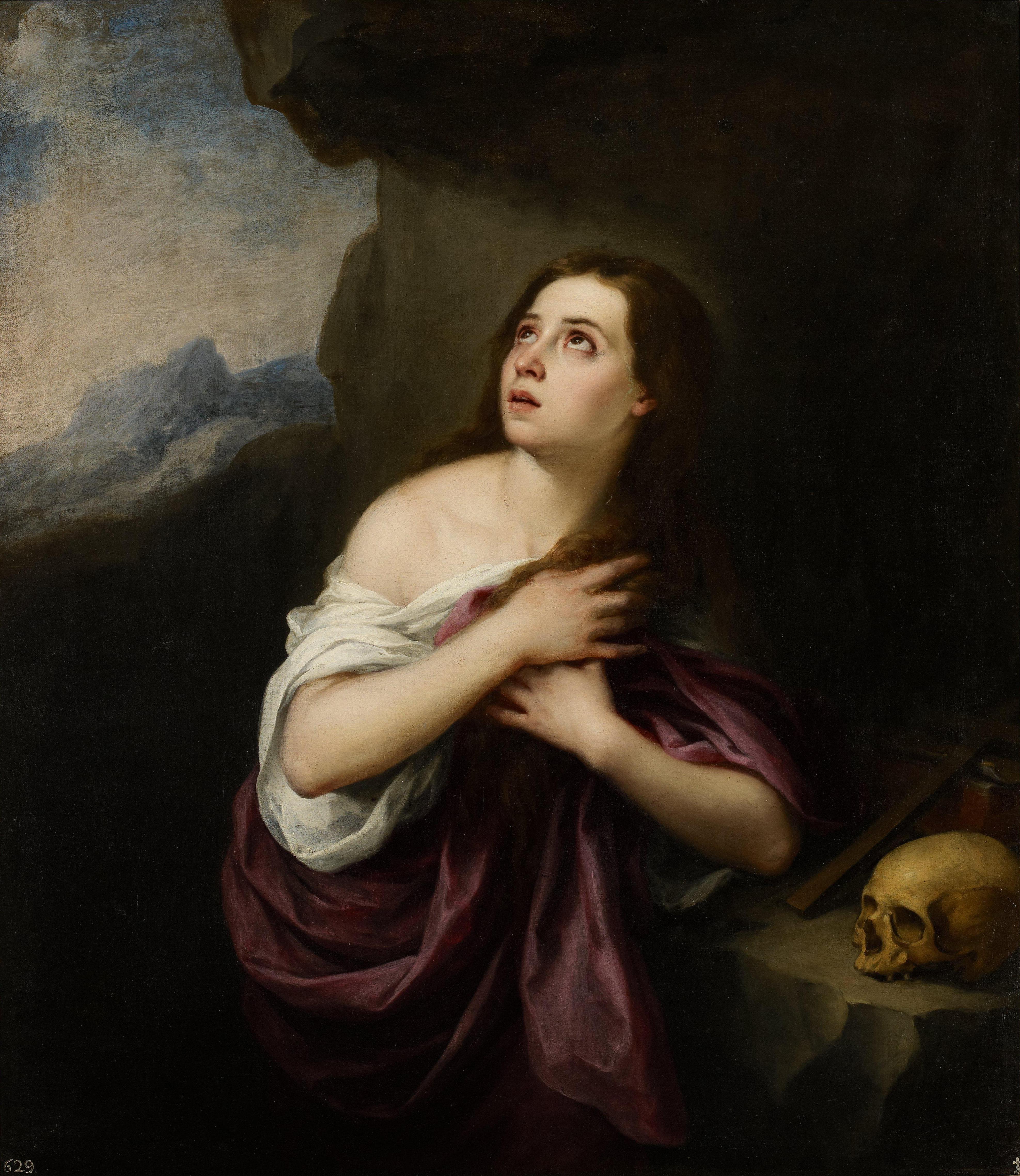 The Penitent Magdalen Georges De La Tour