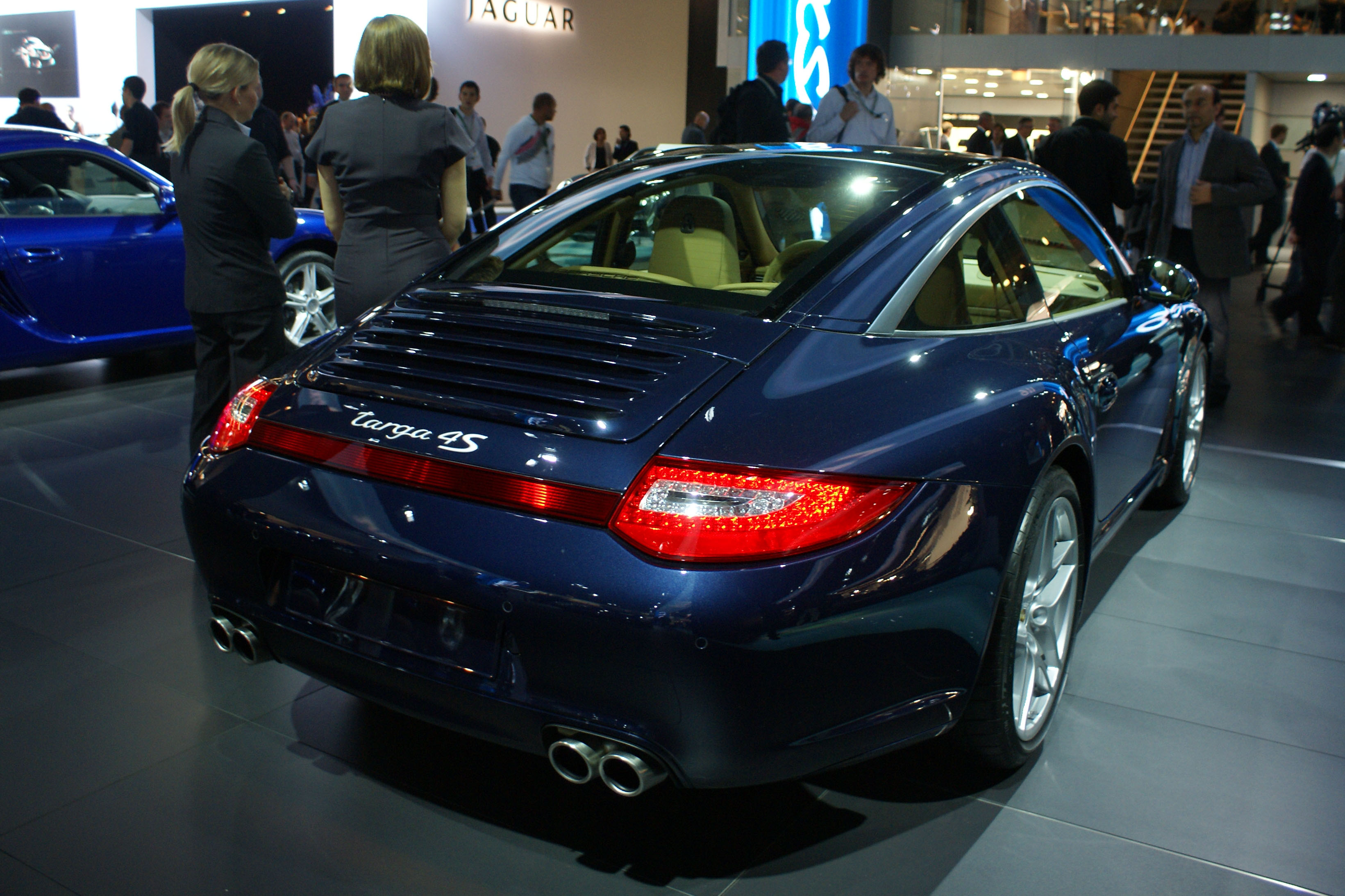 file blue porsche 997 targa 4s rr iaa 2009 jpg. Black Bedroom Furniture Sets. Home Design Ideas