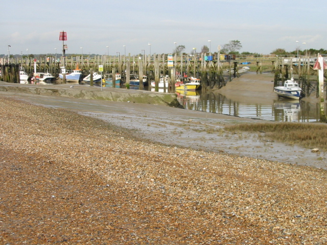 Boats on the River Rother, Rye Harbour - geograph.org.uk - 1028988