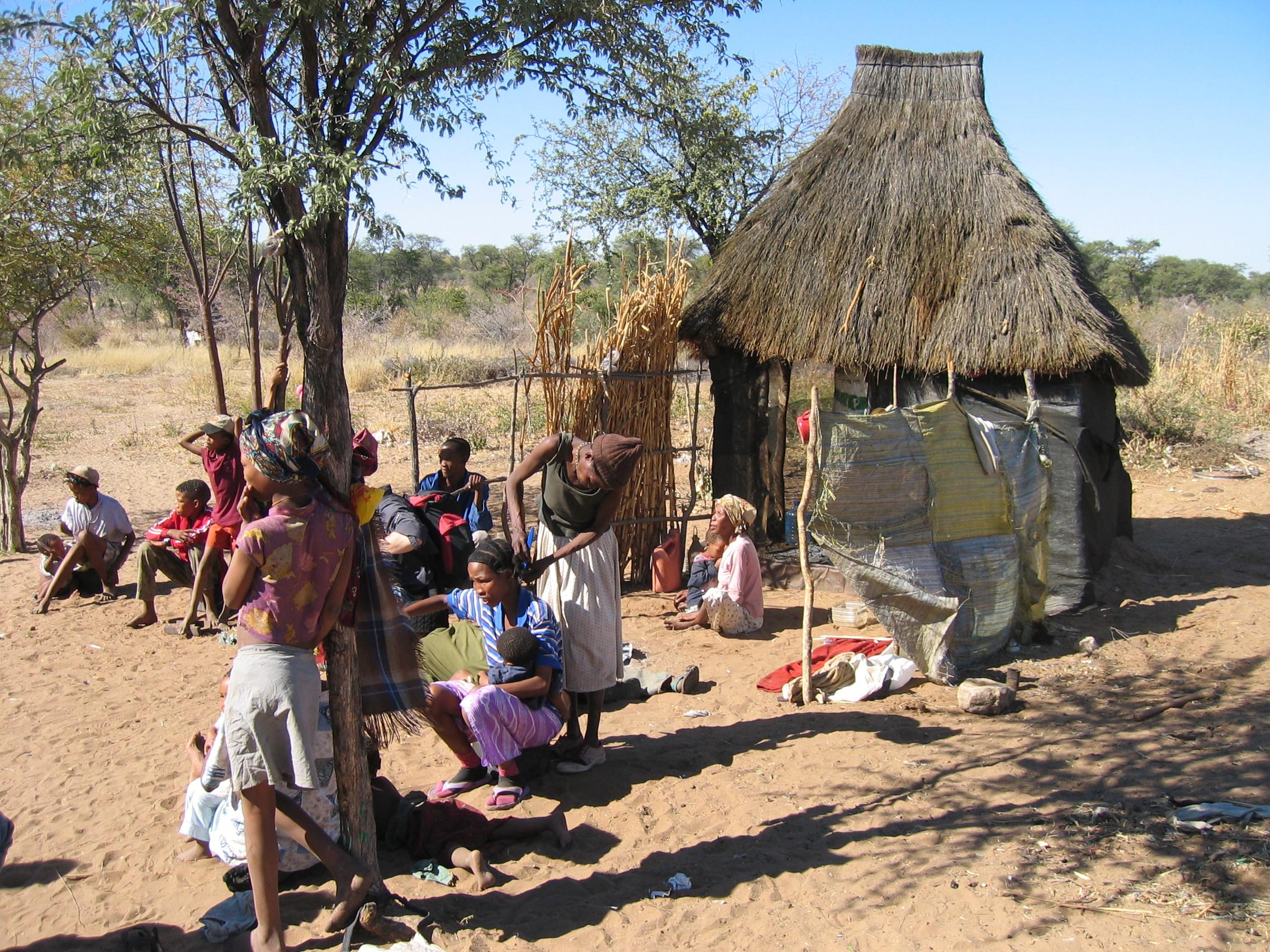 Afrika Bosjesmannendorp