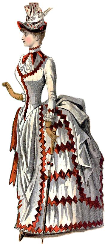 1880-luvun puolivälin muotikuva.