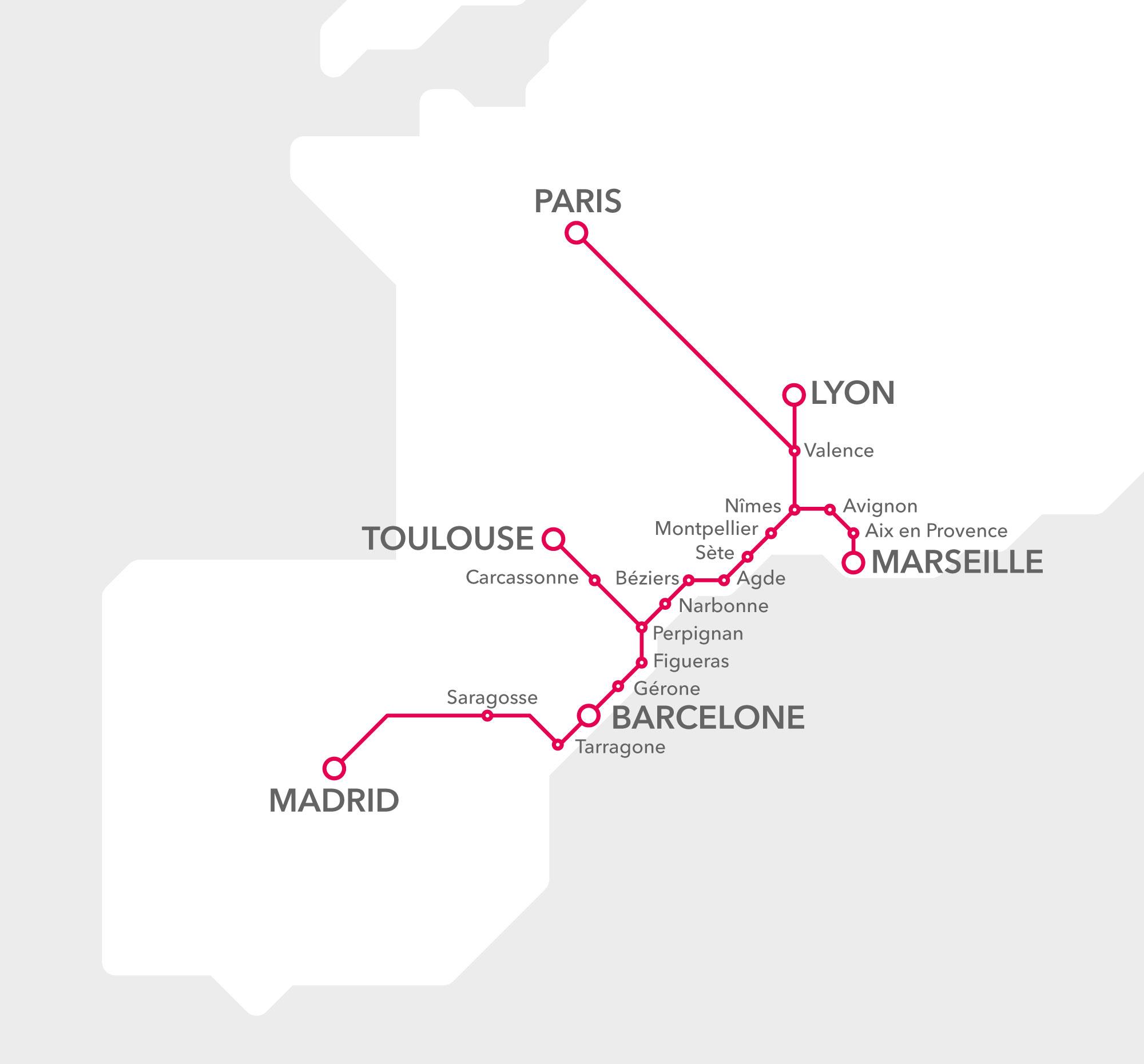 Datei:Carte schámatique du réseau des trains Renfe-SNCF en ... on