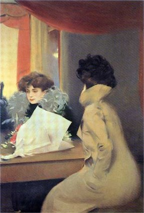 English: Anteroom of the box, by Ramon Casas, ...