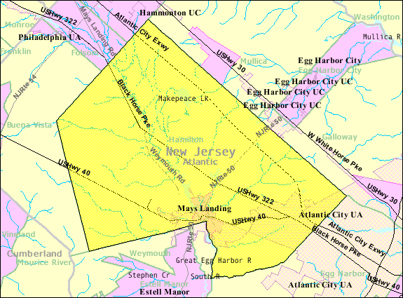 Sixth image of Hamilton County Nj with File:Census Bureau map of Hamilton Township, Atlantic ...