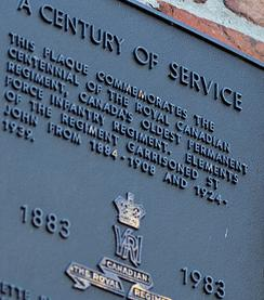 Century of Service Plaque The Royal Canadian Regiment 1883–1983, Royal Canadian Military College Saint-Jean