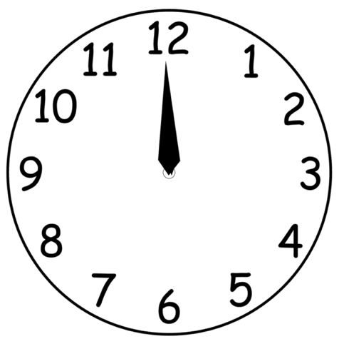 file:clock face one hand - wikimedia commons