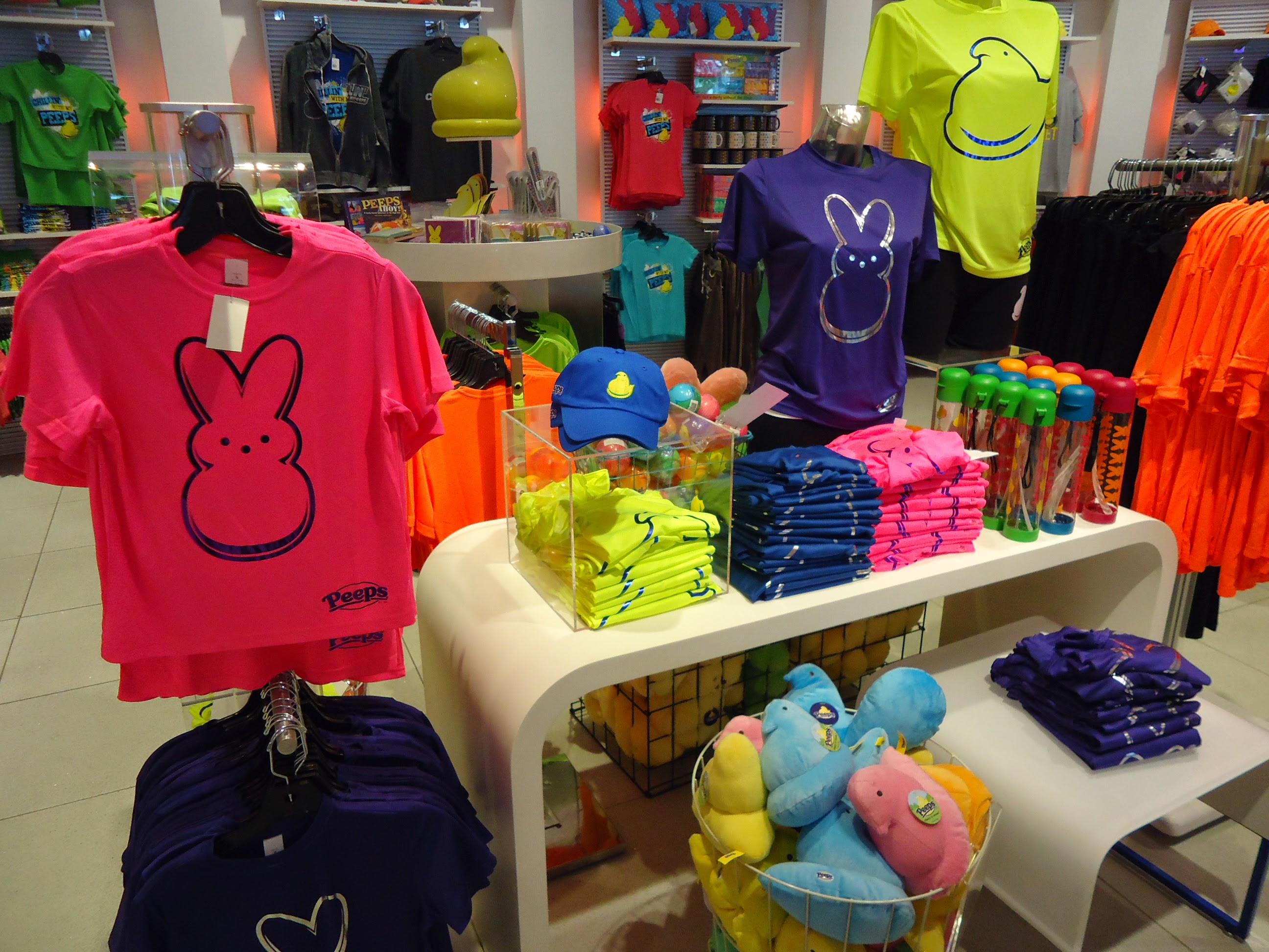 Colorful clothing for sale in a store in maryland
