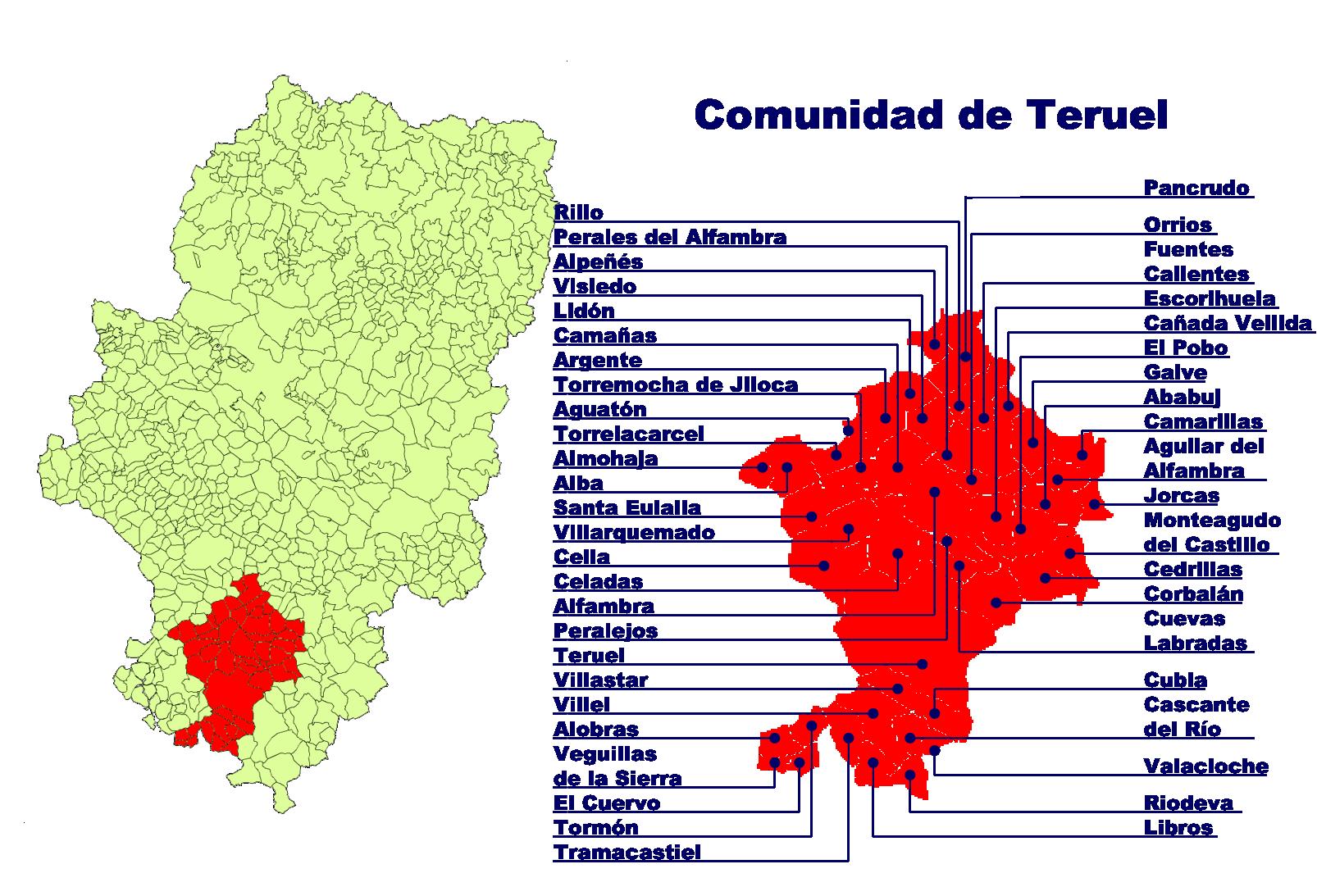 Depiction of Comunidad de Teruel