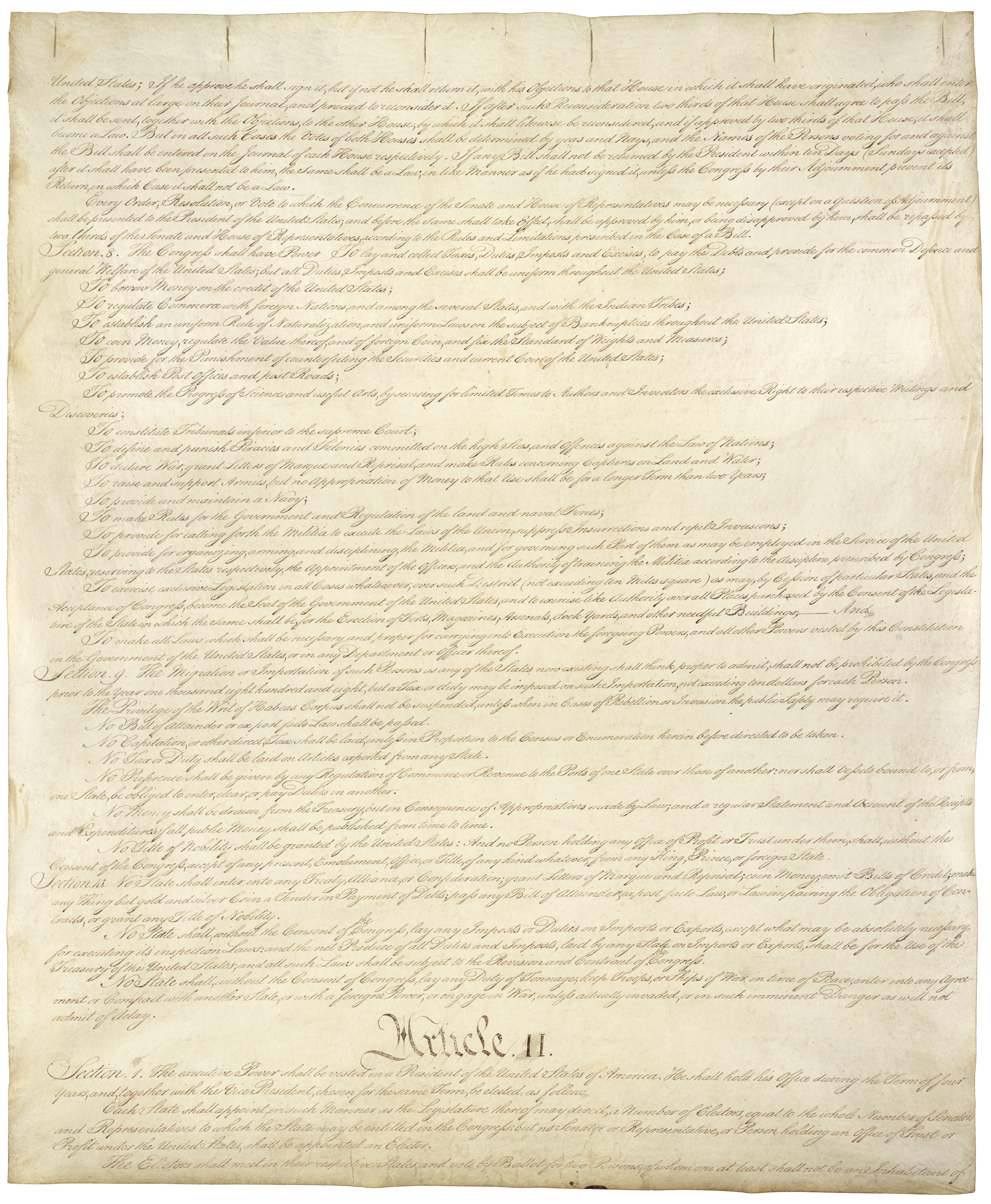 number of words in article one of the constitution