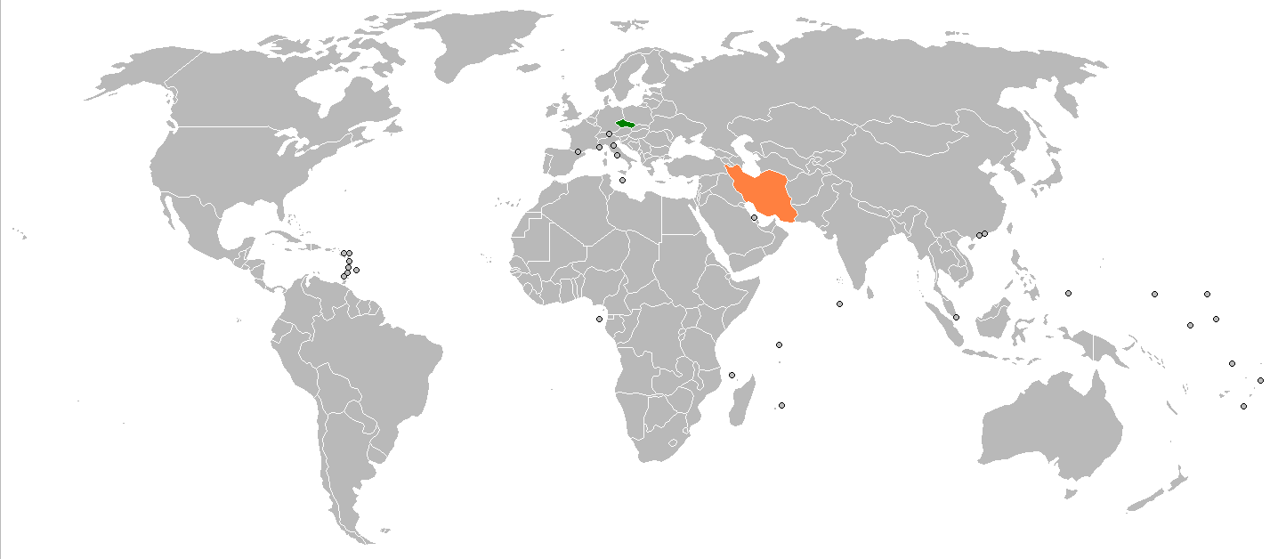 Where Is Czech Republic On The World Map - World map in czech language