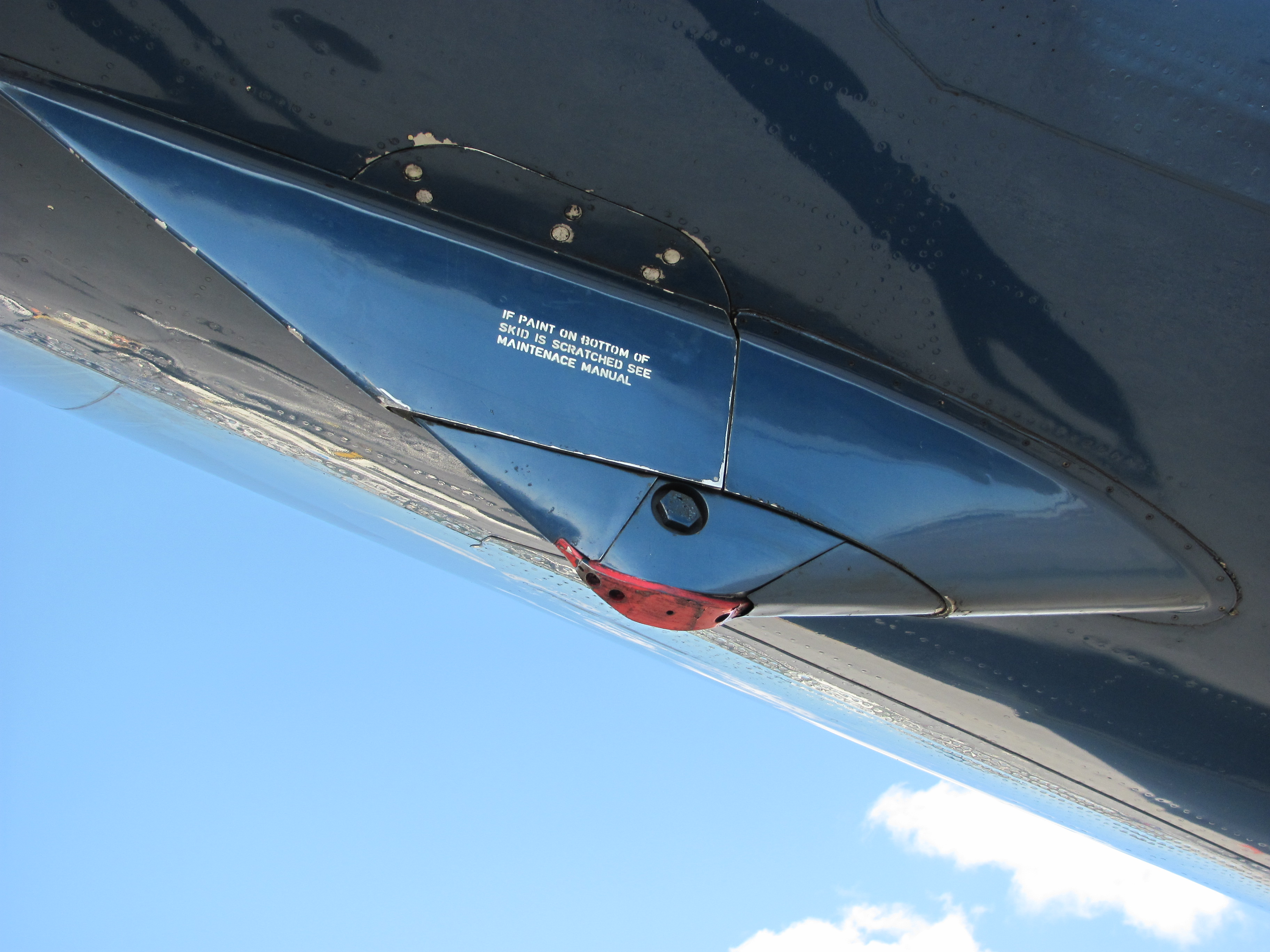 License Plate Camera >> File:DC8 Tail strike plate (4547277923).jpg - Wikimedia Commons