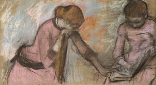 File:Degas - Jeunes filles regardant un album, circa 1884, L 779.jpg
