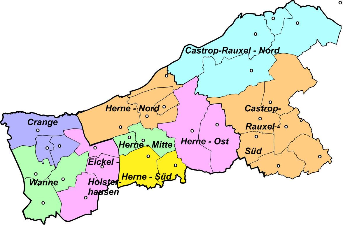 Herne Karte Stadtteile.Dekanat Emschertal Wikipedia