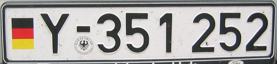 Bundeswehr Kennzeichen
