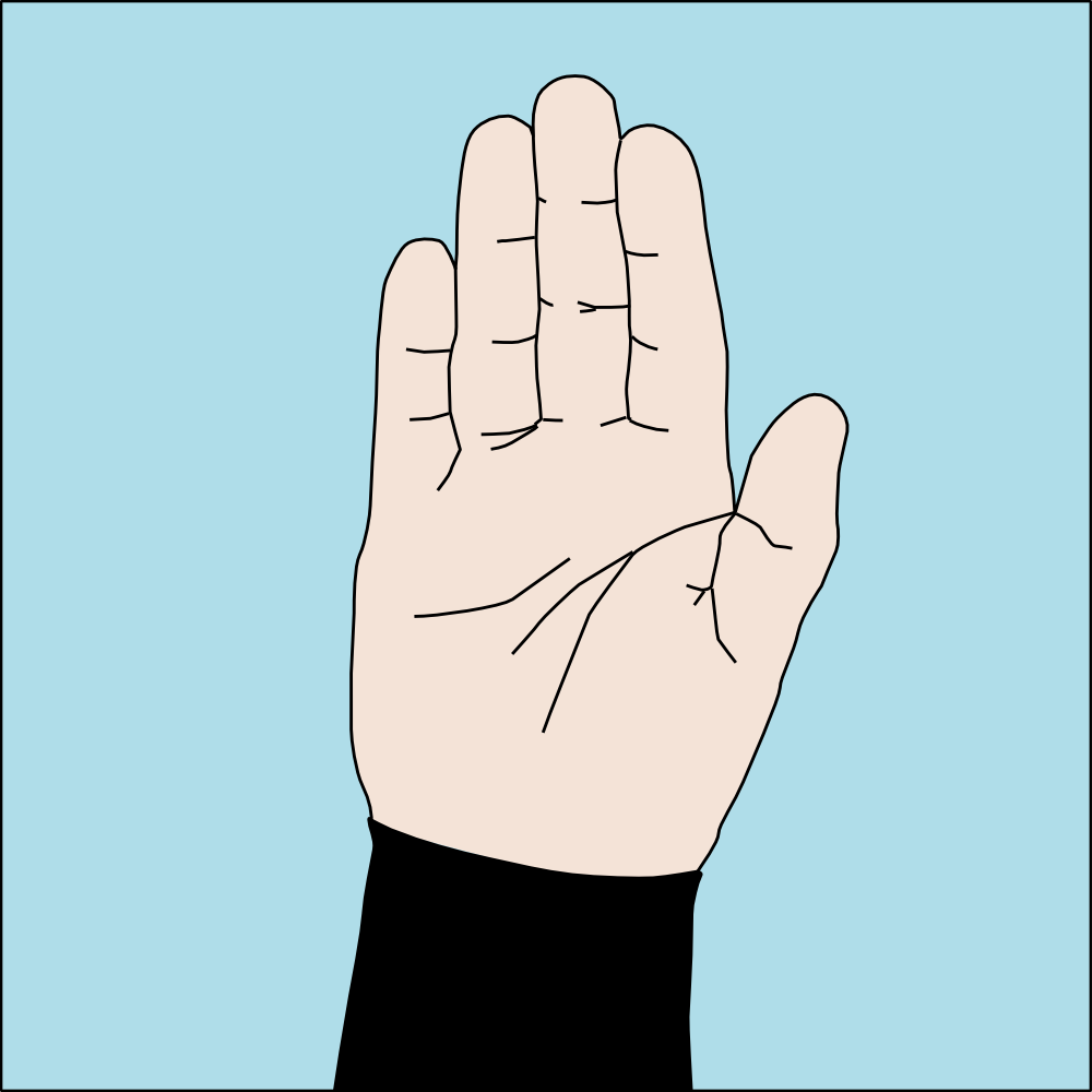 Dive hand signal Stop.png