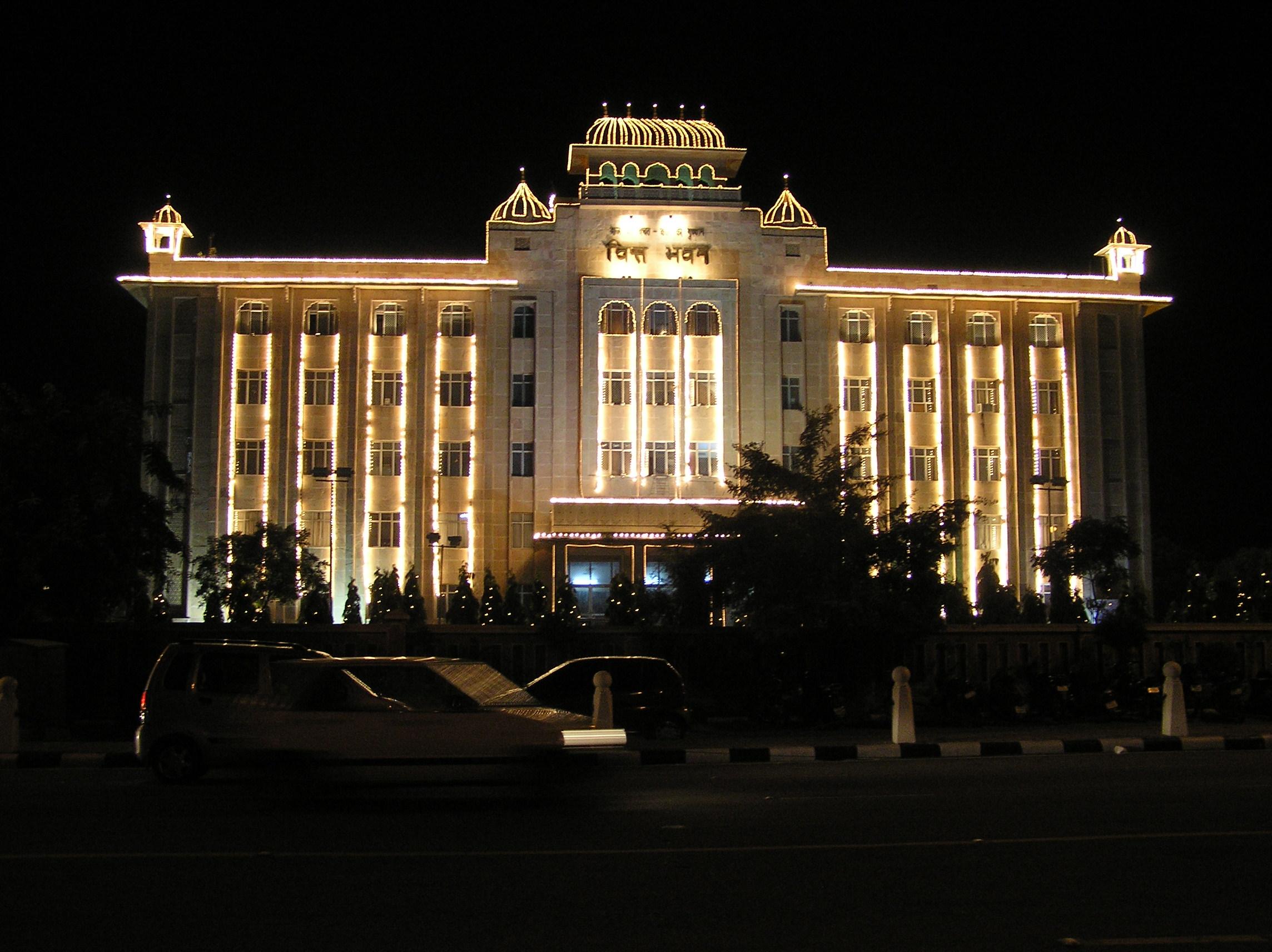 File:Diwali illumination State Government Building, Jaipur ...