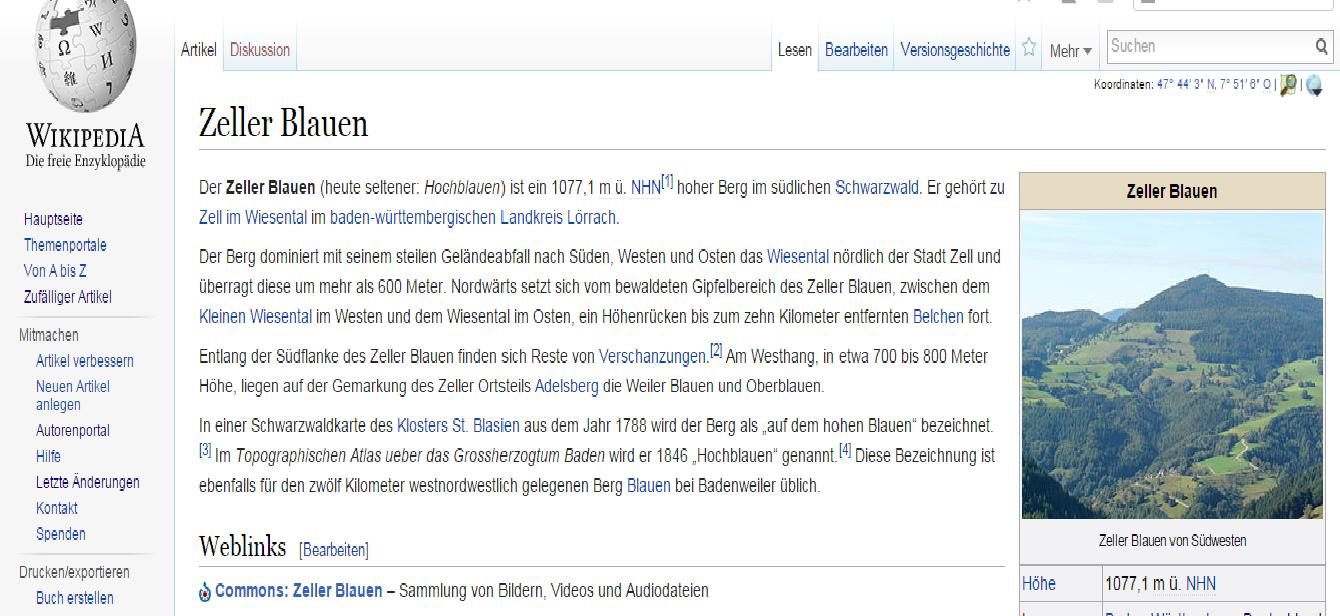 Anwendung von ''Einzelnachweisen'' in der Wikipedia