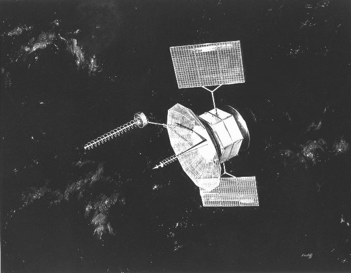 FLTSATCOM satellite. USAF image from Wikimedia Commons.