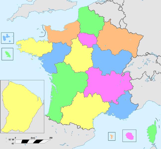 carte de france des regions