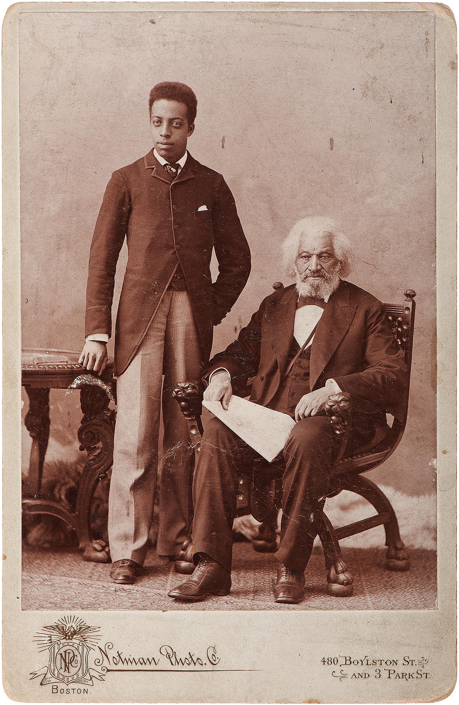 ab85e8d91 File:Frederick Douglass & grandson Joseph, c1890s.jpg - Wikimedia ...