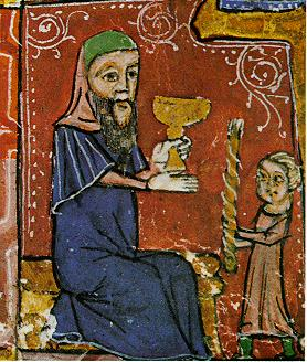 Observing the Havdalah ritual, 14th-century Spain