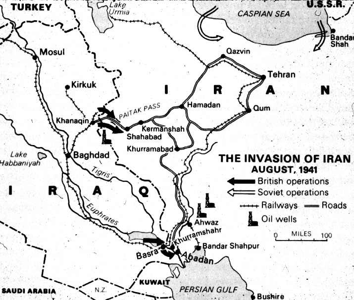 Iran Karte Deutsch.File Invasioniran1941 Jpg Wikimedia Commons