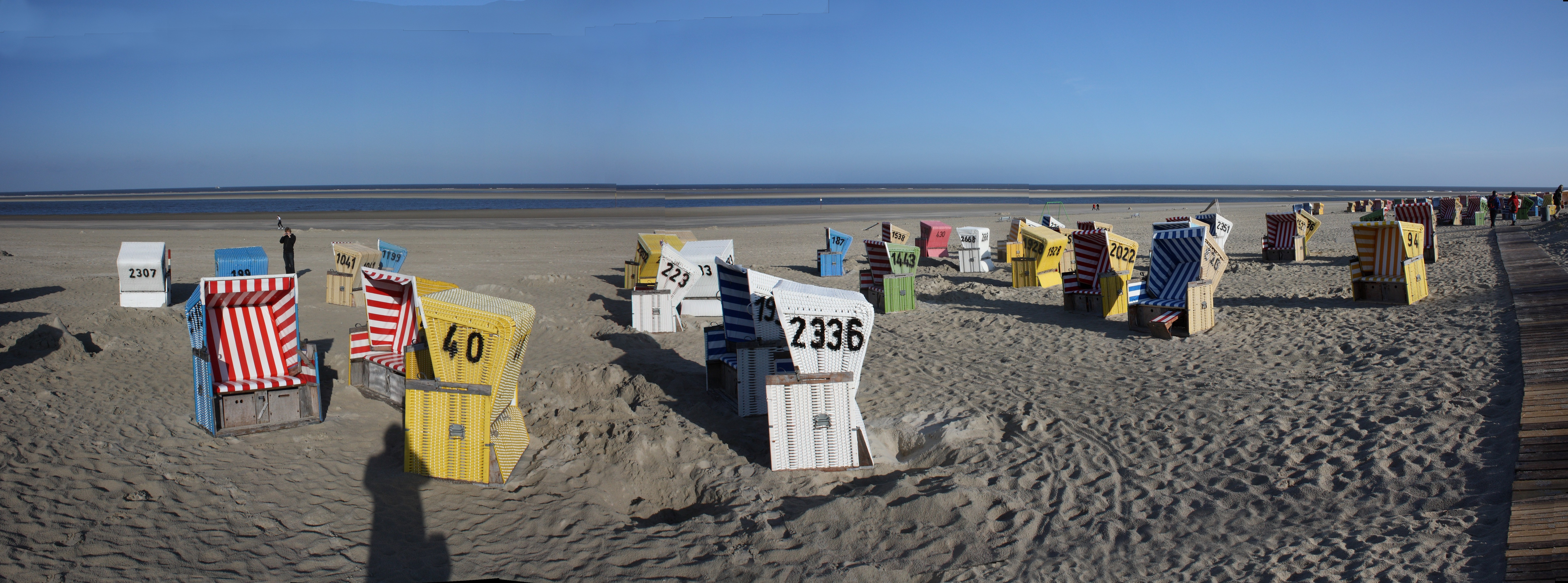 Strandkörbe auf ''Langeoog''