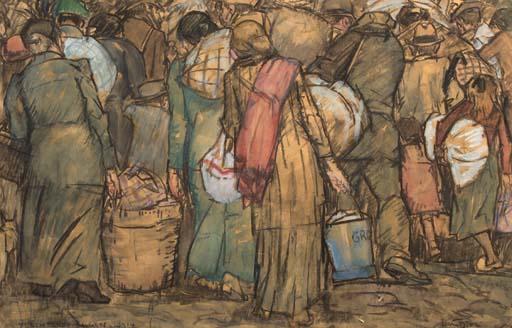 Leo Gestel Vluchtende Belgen 1914